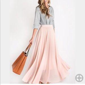 2b31dc0507f Morning Lavender Amelia Full Pink Maxi Skirt